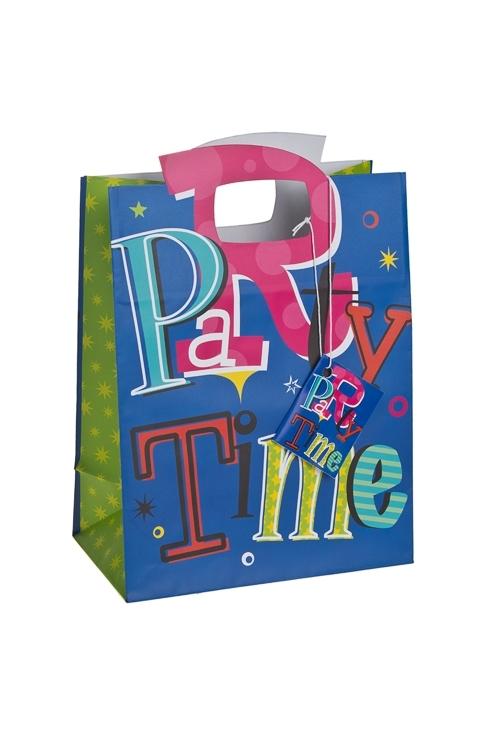 Пакет подарочный Время для весельяСувениры и упаковка<br>18*10*22.7см, бум., матовый<br>
