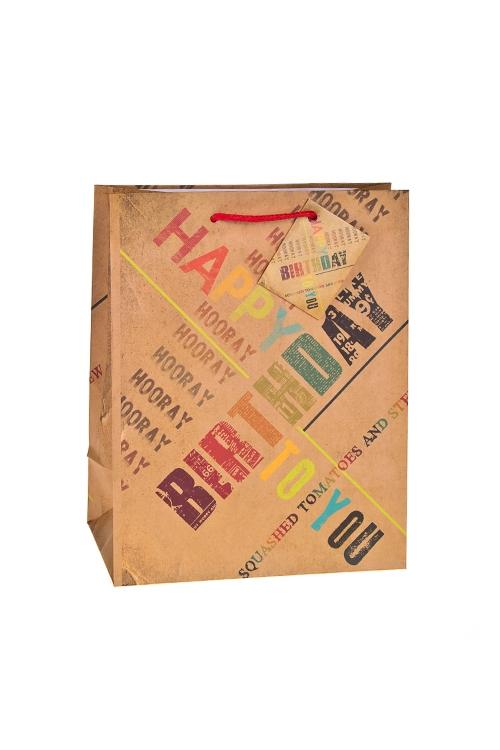 Пакет подарочный ПоздравленияСувениры и упаковка<br>18*10*22.7см, бум., матовый<br>