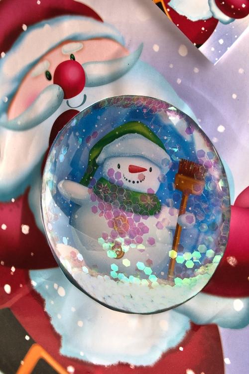 """Пакет подарочный новогодний """"Снеговик в шаре"""" - 2"""