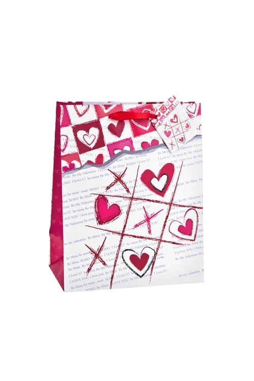 Пакет подарочный Любовная лотереяСувениры и упаковка<br>18*10*22.7см, бум., матовый<br>