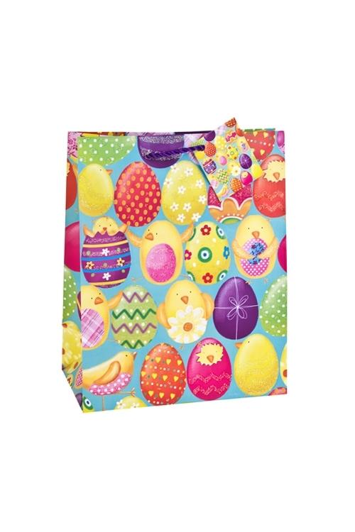 Пакет подарочный ПасхаПакеты на любой повод<br>18*10*22.7см, бум., матовый, с декором<br>