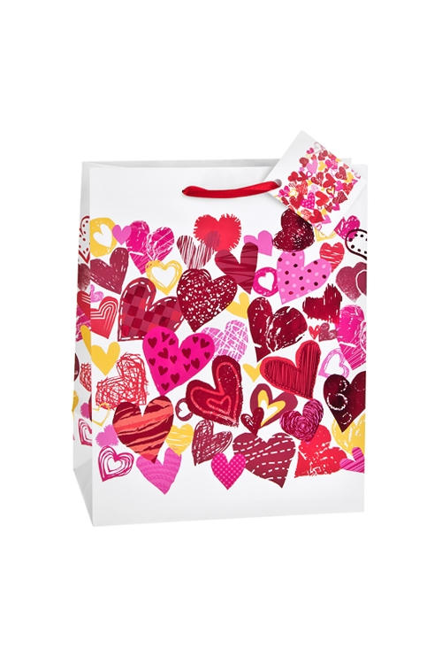 Пакет подарочный Многообразие любвиСувениры и упаковка<br>18*10*22.7см, бум., матовый, с гор. тиснением<br>