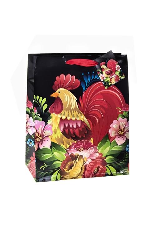 Пакет подарочный Сказочный петухСувениры и упаковка<br>18*10*22.7см, бум., глянцевый<br>