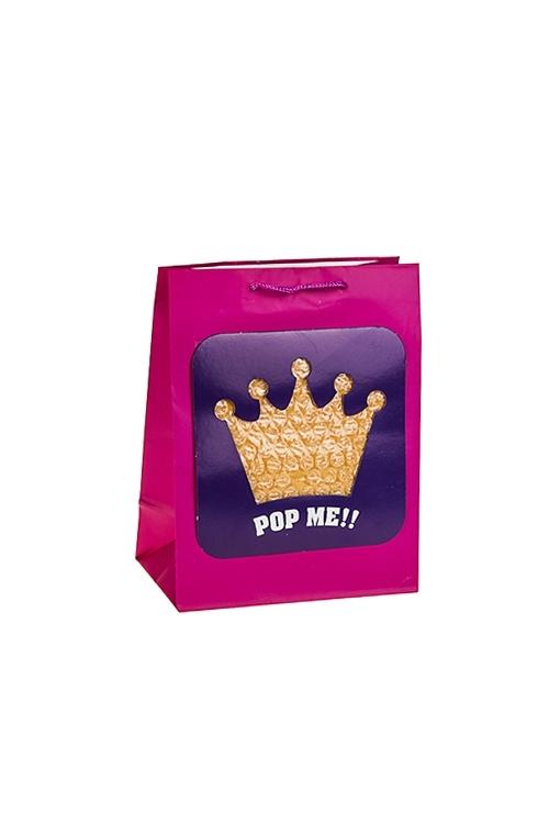 Пакет подарочный КоронаПакеты на любой повод<br>18*10*22.7см, бум., матовый, с декором<br>