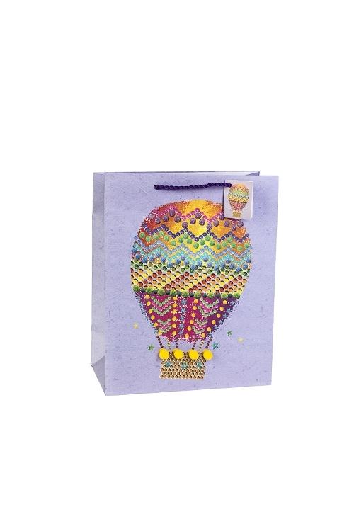 Пакет подарочный Воздушный шарПакеты на любой повод<br>18*10*22.7см, бум., матовый, с декором<br>