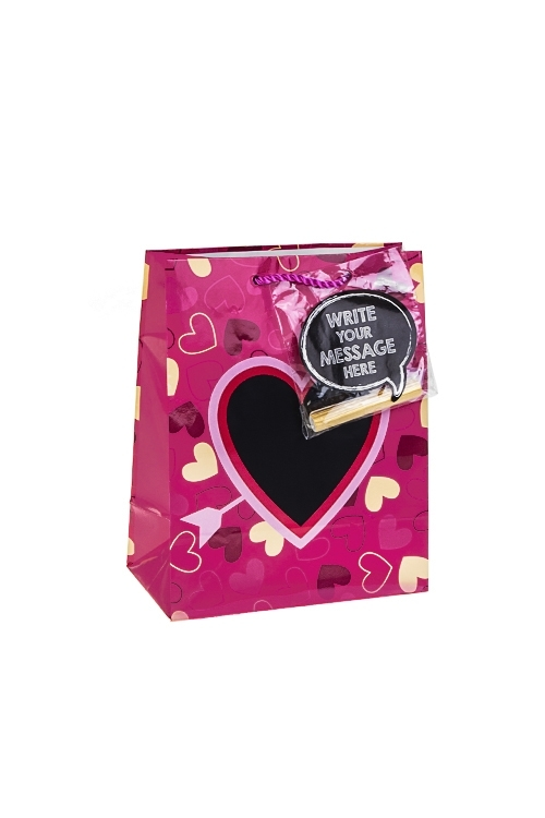 Пакет подарочный Внутри сердцаСувениры и упаковка<br>18*10*22.7см, бум., глянцевый, с декором, с мелком<br>