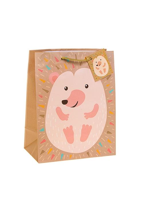 Пакет подарочный ЕжикСувениры и упаковка<br>18*10*22.7см, бум., матовый<br>