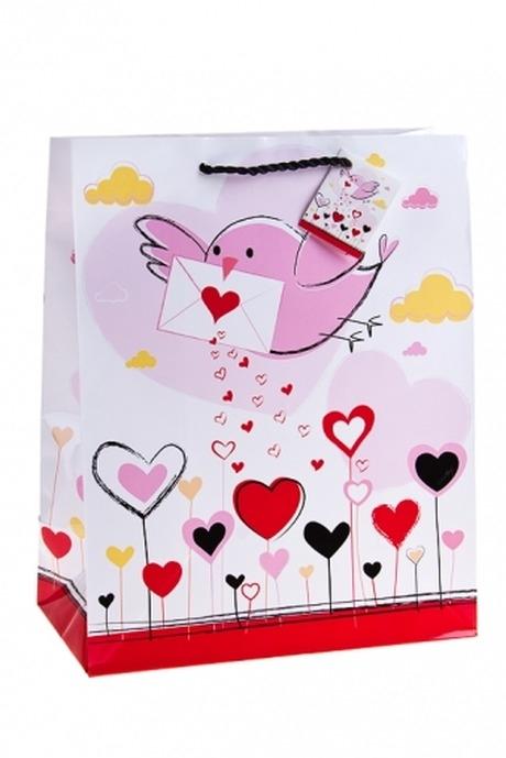 Пакет подарочный Письмо счастьяПакеты про Любовь<br>26.4*13.6*32.7см, бум.<br>