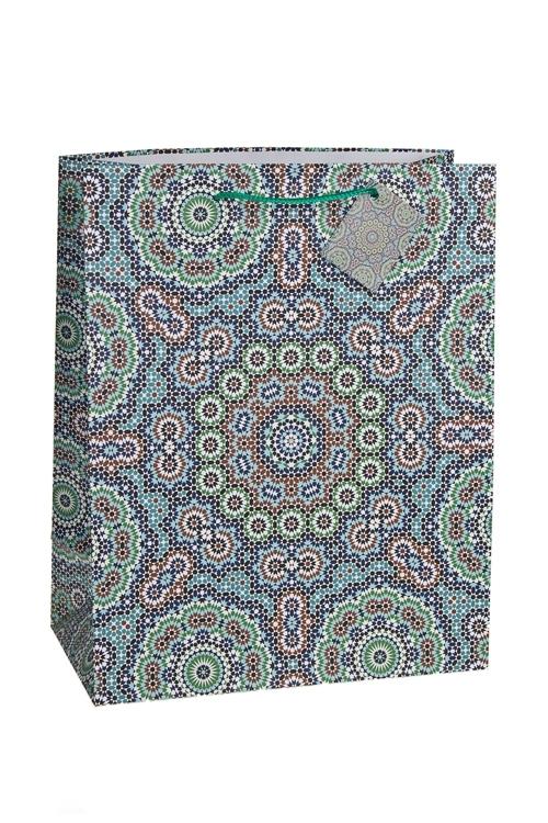 Пакет подарочный Арабский узорСувениры и упаковка<br>26.4*13.6*32.7см, бум., матовый<br>
