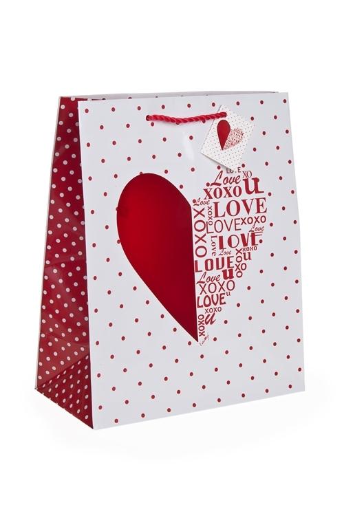 """Пакет подарочный """"Шелковое сердце"""""""