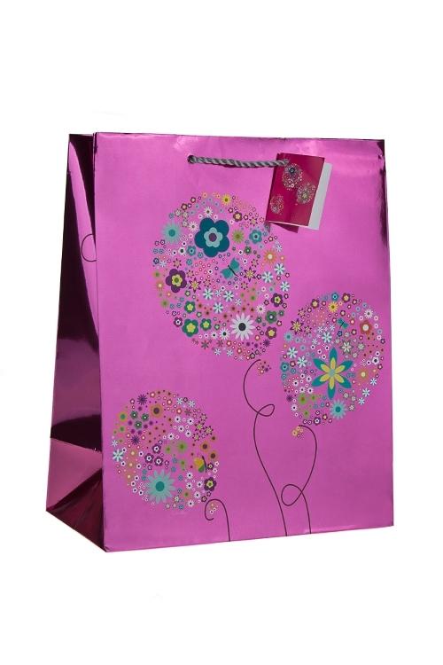 Пакет подарочный Воздушные шарикиПакеты «С Днем рождения»<br>26.4*13.6*32.7см, бум., глянцевый<br>