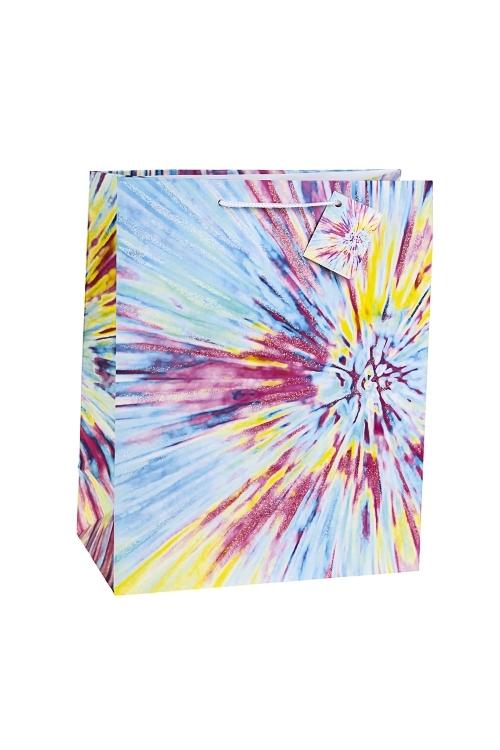 Пакет подарочный Вспышки светаПакеты на любой повод<br>26.4*13.6*32.7см, бум., матовый, с декором<br>