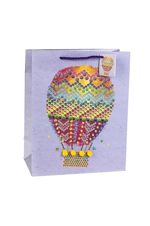 Пакет подарочный Воздушный шарСувениры и упаковка<br>26.4*13.6*32.7см, бум., матовый, с декором<br>