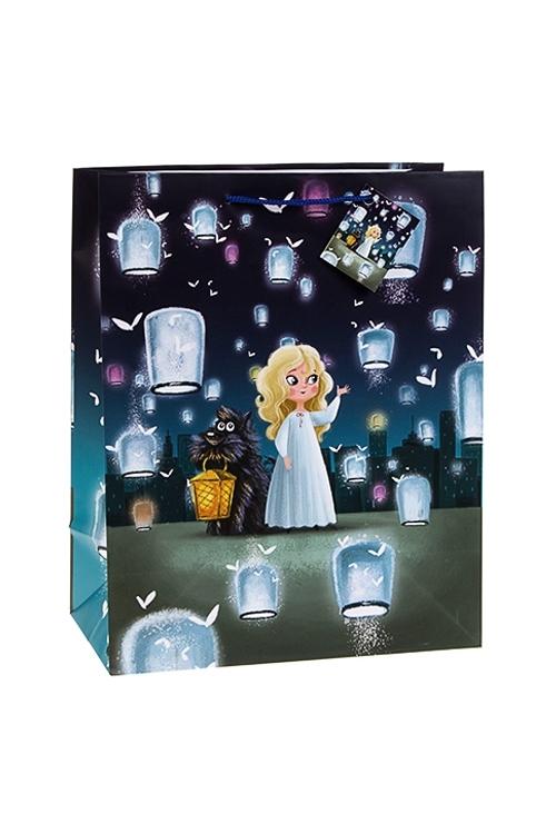 Пакет подарочный Волшебные друзьяСувениры и упаковка<br>26.4*13.6*32.7см, бум., с декором<br>