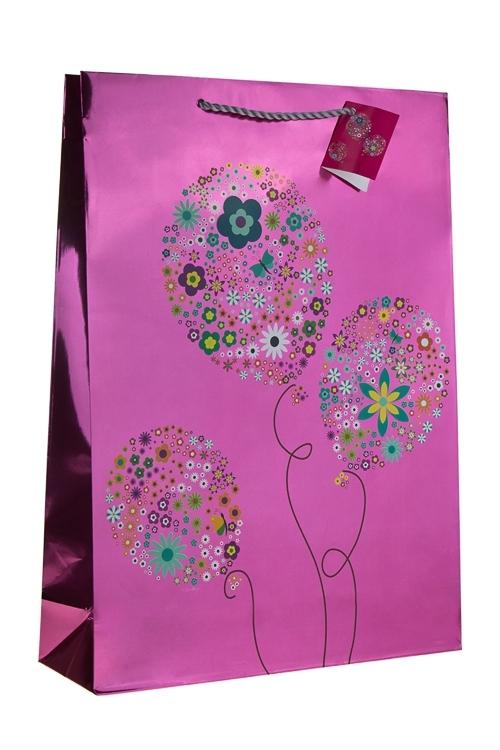 Пакет подарочный Воздушные шарикиСувениры и упаковка<br>32.4*10.2*44.5см, бум., глянцевый<br>