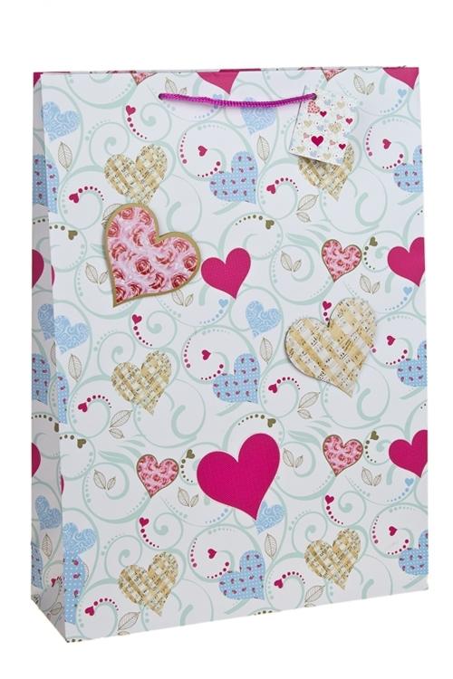 Пакет подарочный Музыка любвиПакеты про Любовь<br>32.4*10.2*44.5см, бум., с декором, матовый<br>
