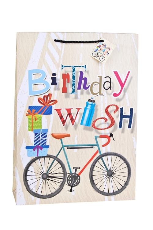 Пакет подарочный Заветное желаниеСувениры и упаковка<br>32.4*10.2*44.5см, бум., матовый<br>