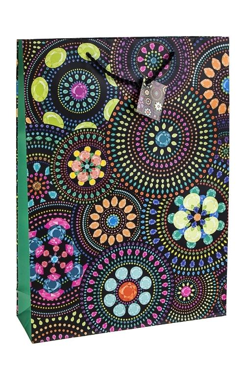 Пакет подарочный Цветочная мозаикаСувениры и упаковка<br>32.4*10.2*44.5см, бум., матовый<br>