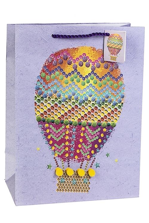 Пакет подарочный Воздушный шарСувениры и упаковка<br>32.4*10.2*44.5см, бум., матовый, с декором<br>