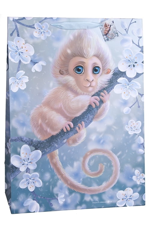 Пакет подарочный Волшебная обезьянкаПодарочные пакеты<br>40.6*20.3*55.8см, бум., матовый<br>