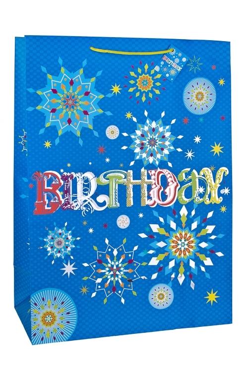 Пакет подарочный Фейерверк для именинникаПакеты «С Днем рождения»<br>40.6*20.3*55.8см, бум., матовый, с гор. тиснением<br>