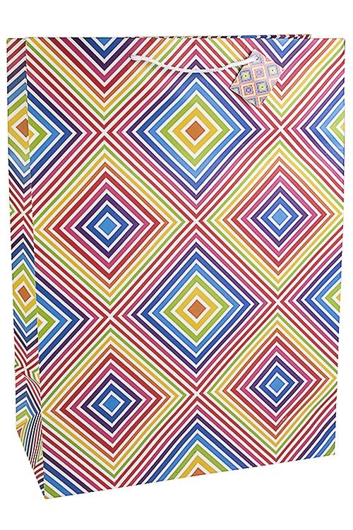 Пакет подарочный Танцующий узорСувениры и упаковка<br>40.6*20.3*55.8см, бум., матовый<br>