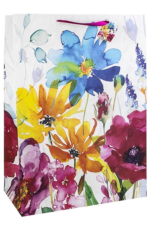 Пакет подарочный Луговые цветыСувениры и упаковка<br>40.6*20.3*55.8см, бум., матовый<br>