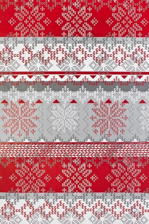 """Бумага упаковочная новогодняя """"Норвежский узор"""""""