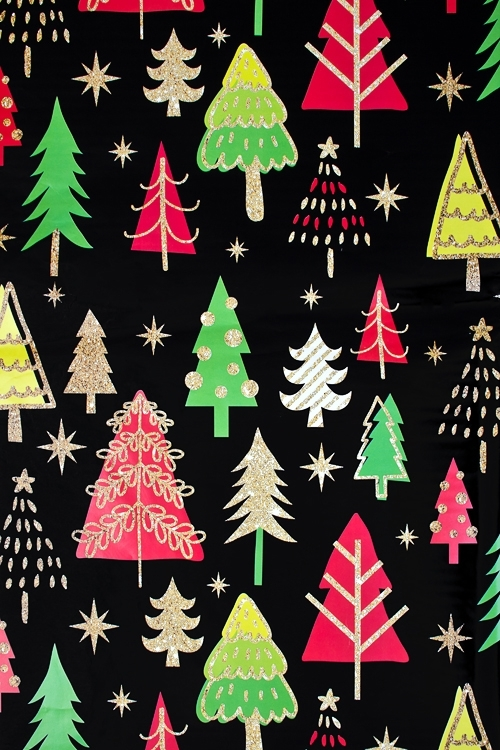 Бумага упаковочная новогодняя Яркие елочкиУпаковочная бумага<br>70*100см<br>