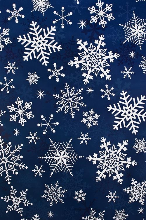 Бумага упаковочная новогодняя Ажурные снежинкиУпаковочная бумага<br>70*100см<br>