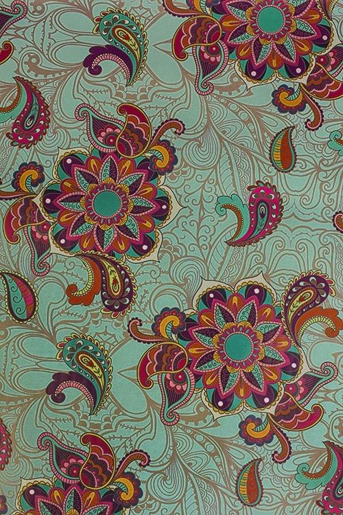 Бумага упаковочная Восточные цветыУпаковочная бумага<br>70*100см<br>
