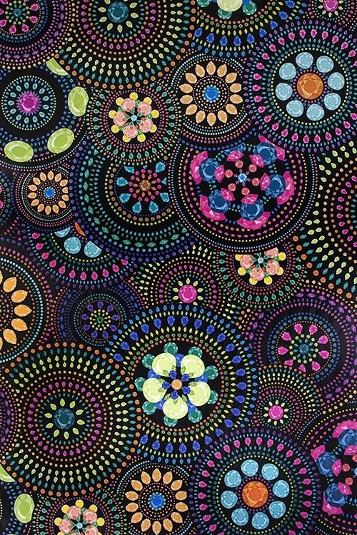 Бумага упаковочная Цветочная мозаикаСувениры и упаковка<br>70*100см<br>