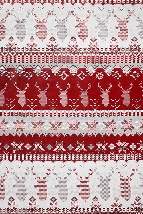 Бумага упаковочная новогодняя Норвежский оленьУпаковочная бумага<br>70*100см<br>