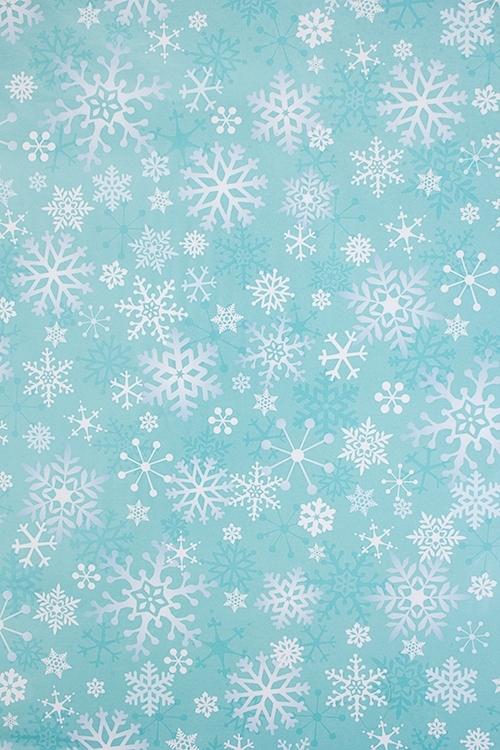 Бумага упаковочная новогодняя Волшебные снежинкиУпаковочная бумага<br>70*100см<br>