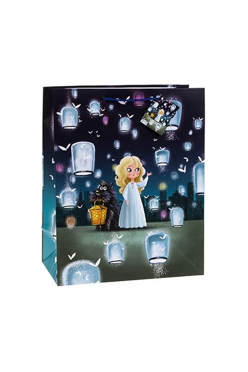 Пакет подарочный Волшебные друзьяСувениры и упаковка<br>18*10*22.7см, бум., с декором<br>