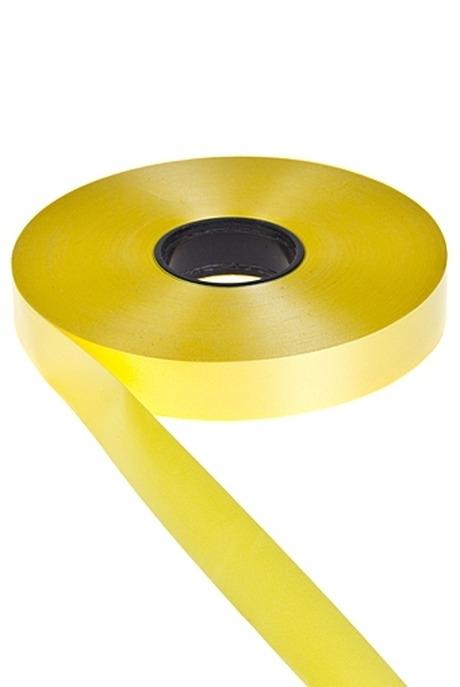 Лента упаковочнаяПодарки на 8 марта<br>Ш=1.9см, Дл=1м, полипропилен, желтая<br>