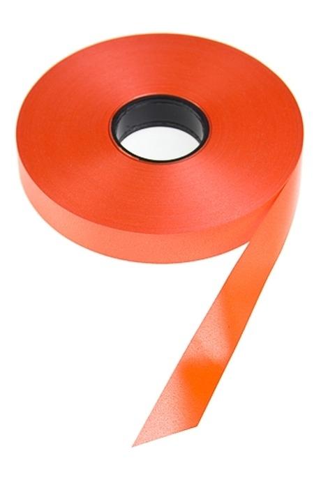 Лента упаковочнаяСувениры и упаковка<br>Ш=1.9см, Дл=1м, полипропилен, оранж.<br>