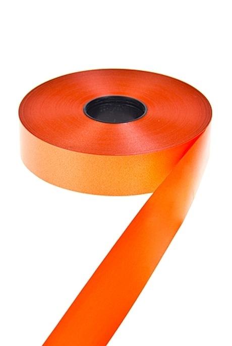 Лента упаковочнаяСувениры и упаковка<br>Ш=3см, Дл=1м, полипропилен, оранж.<br>