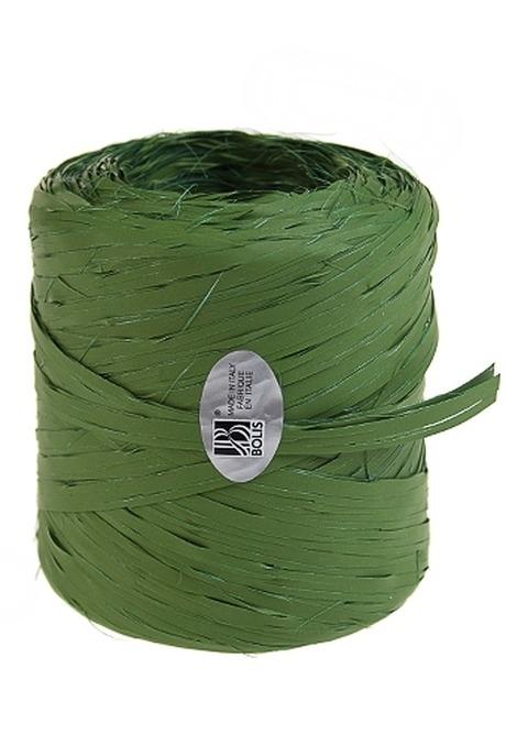 Лента упаковочная РафияСувениры и упаковка<br>Дл=1м, полипропилен, темно-зеленая<br>