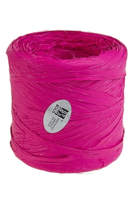 Лента упаковочная РафияСувениры и упаковка<br>Дл=1м, полипропилен, ярко-розовая<br>