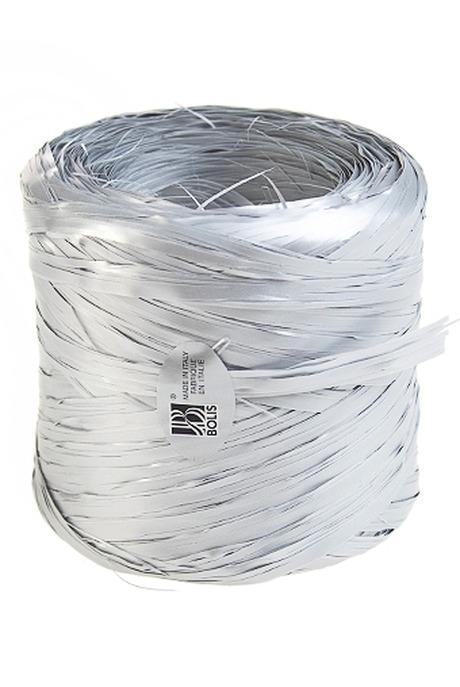 Лента упаковочная РафияСувениры и упаковка<br>Дл=1м, полипропилен, серебр.<br>