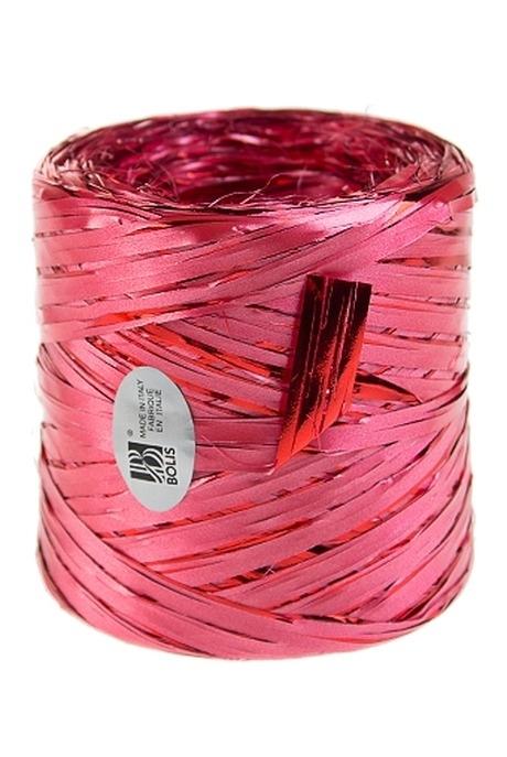 Лента упаковочная РафияУпаковочные ленты<br>Дл=1м, полипропилен, красно-розовая<br>