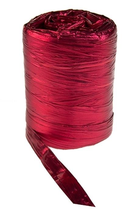 Лента упаковочная ПолисилкСувениры и упаковка<br>Ш=9.5см, Дл=100см, красная<br>
