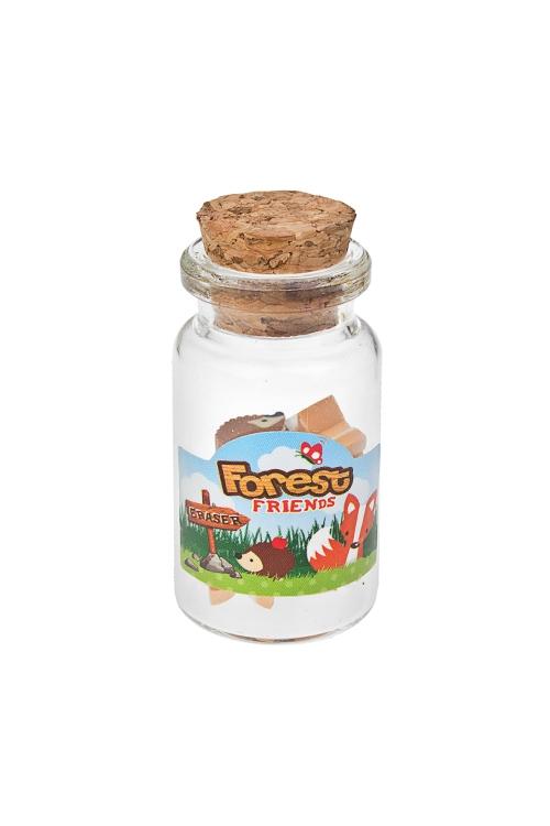Набор ластиков Лесные жителиКанцелярские мелочи<br>8-предм., в стекл. емкости<br>