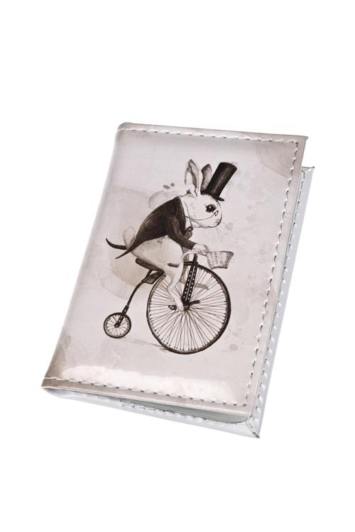 Держатель для дисконтных карт/визиток Следуй за белым кроликомУчеба и работа<br>10.4*7.3см, ПВХ<br>
