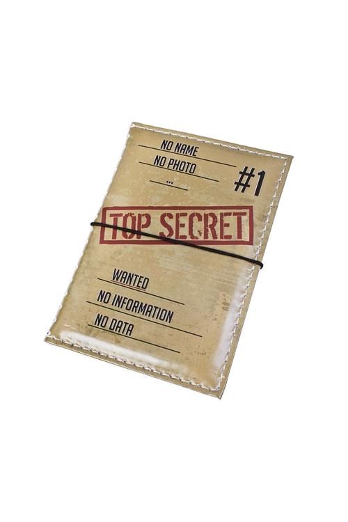 Держатель для дисконтных карт/визиток Совершенно секретноКанцелярия и обложки для документов на 23 февраля<br>10.4*7.3см, ПВХ<br>