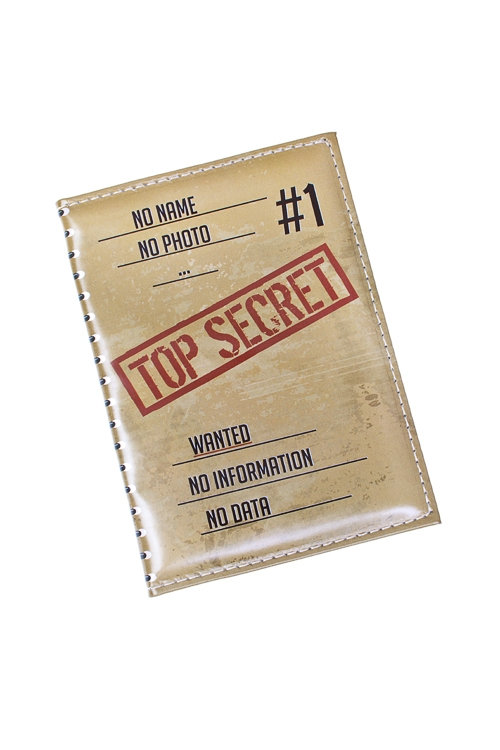 Обложка для паспорта Совершенно секретноДача и Путешествия<br>10*13.5см, ПВХ<br>