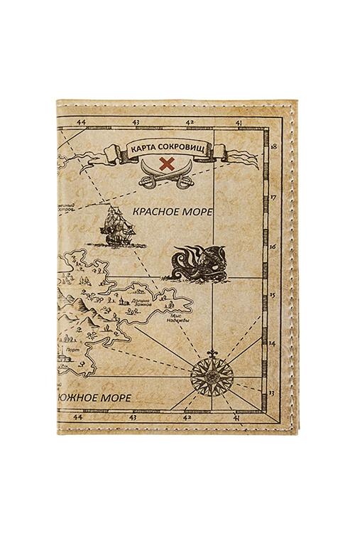 Обложка для паспорта Карта сокровищДача и Путешествия<br>10*13.5см, ПВХ<br>