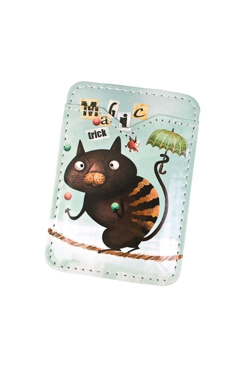 Держатель для карточки-пропуска Волшебный котикПодарки для женщин<br>6.3*9.3см, ПВХ<br>