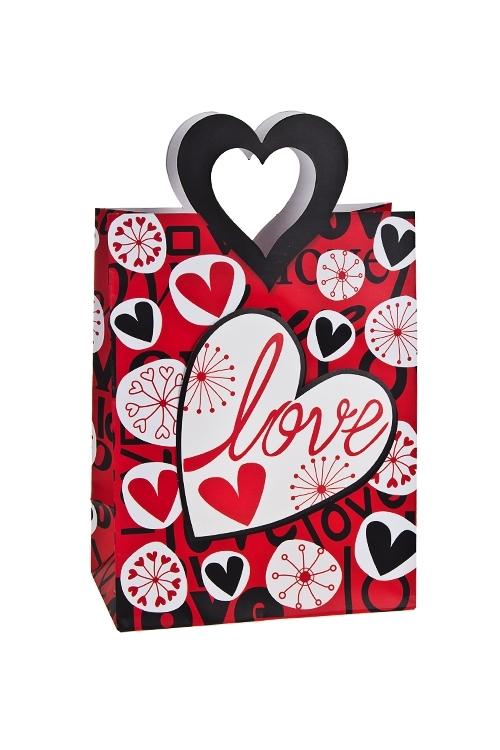 Пакет подарочный Любовь и цветыСувениры и упаковка<br>19*11.4*25см, бум., матовый, с декором<br>